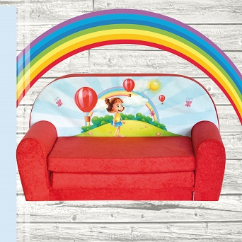 Kindersofa MINI Kindercouch W386_08 Girl Red