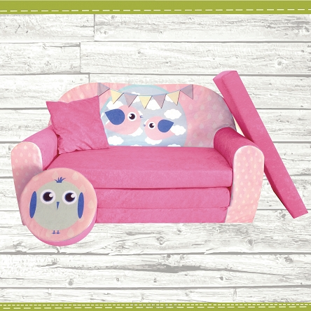 kindersofa zum aufklappen bird cloud 30 bird pink. Black Bedroom Furniture Sets. Home Design Ideas