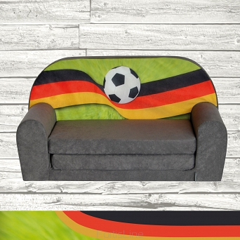 Kindersofa MINI Kindercouch W386_17 FANZONE Football DE