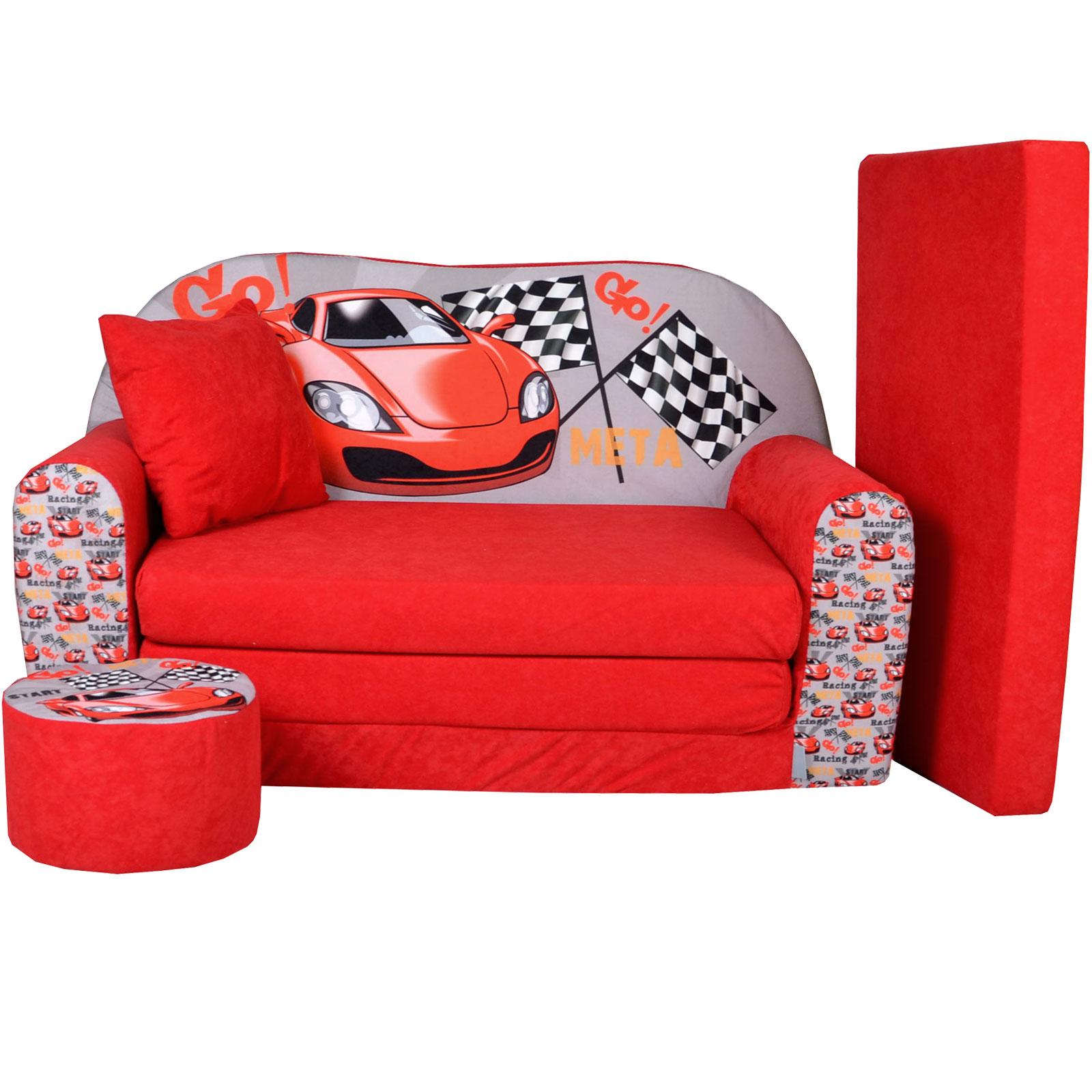 kindersofa zum aufklappen racing. Black Bedroom Furniture Sets. Home Design Ideas